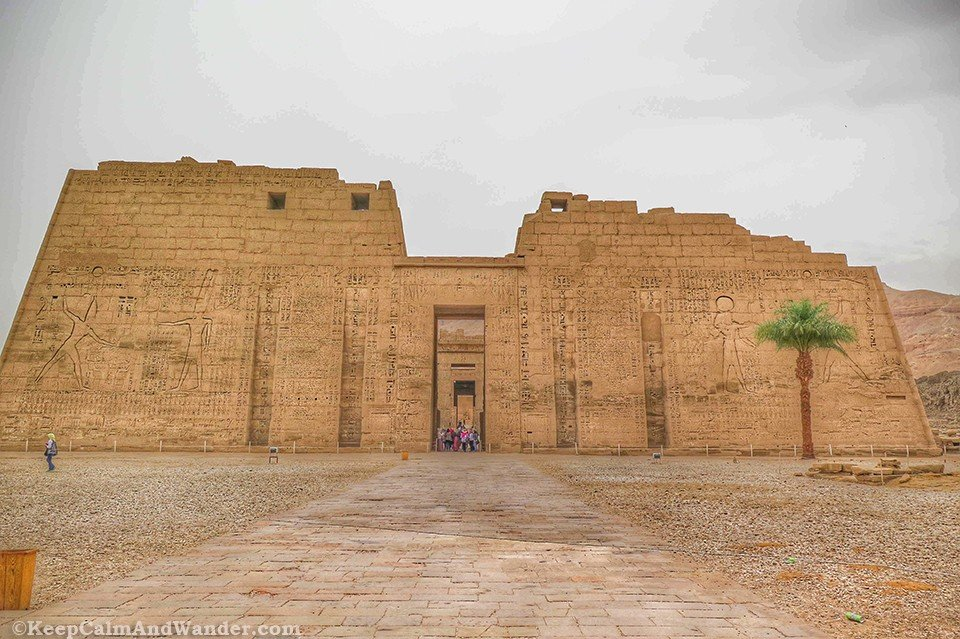 Madinet Habu Temple in Luxor is an architectural wonder.