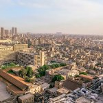 View of Cairo Skyline from Hilton Ramesis Hotel