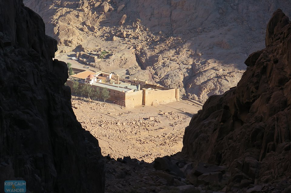 View of St. Catherine Monastery from the Steps of Repentance.