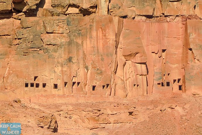 The Lion Tombs Carved in the Rock Mountains