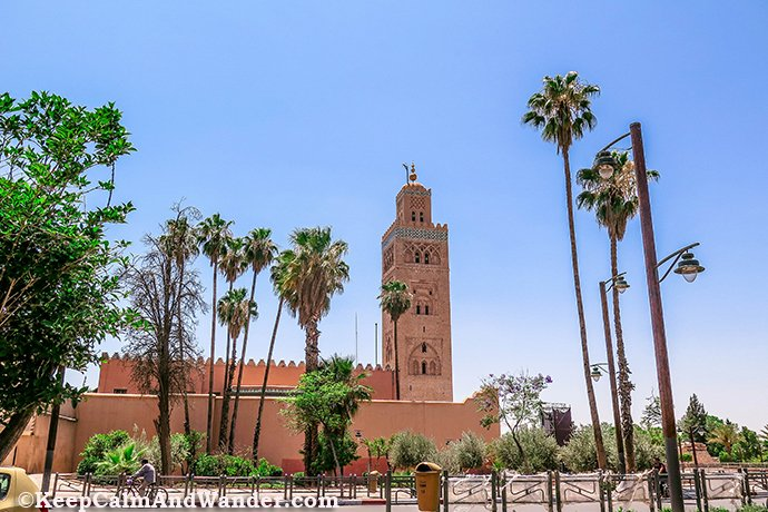 Koutoubia Mosque - The Largest Mosque in Marrakech, Morocco.