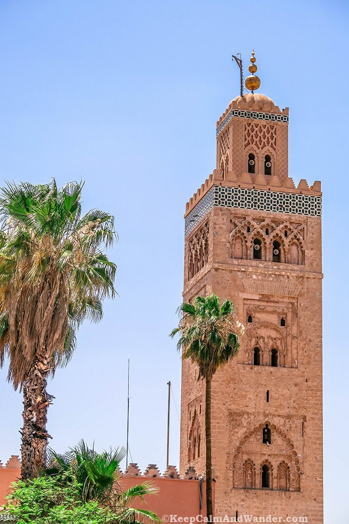 koutoubia mosque the largest mosque in marrakech. Black Bedroom Furniture Sets. Home Design Ideas