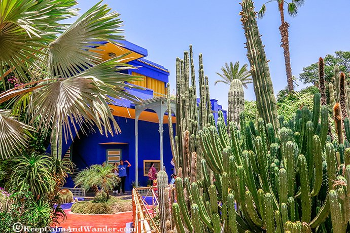 Jardin Majorelle - Here Lies Yves St Laurent (Marrakech, Morocco).