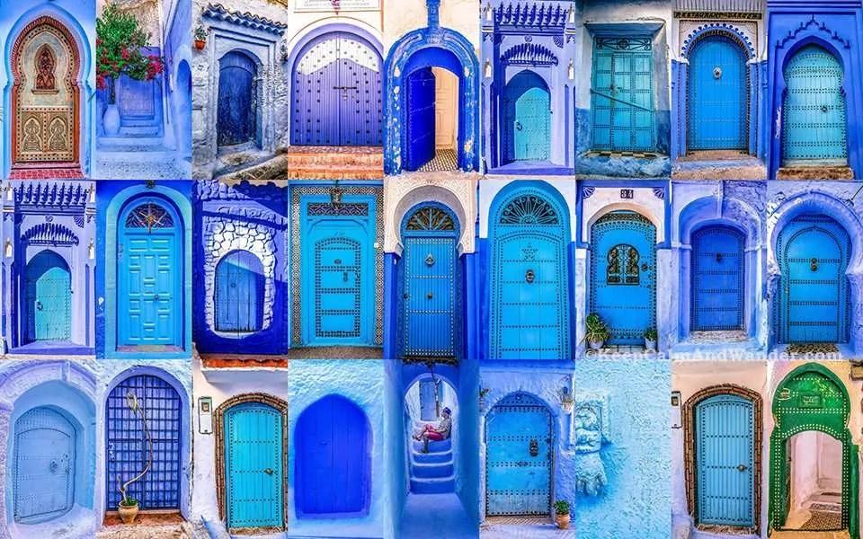 The Beautiful Doors of Morocco. & The Beautiful Doors of Morocco