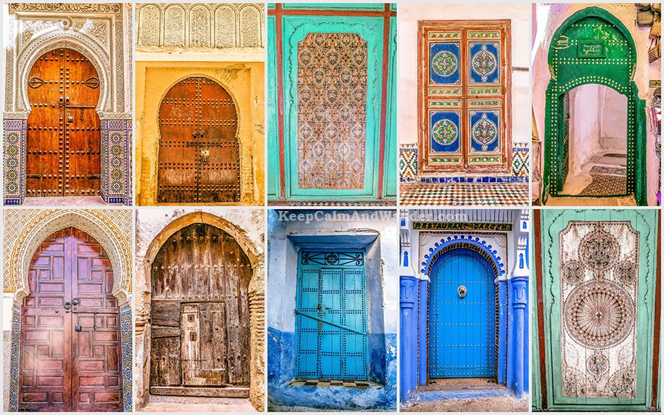 The Beautiful Doors of Morocco. & The Beautiful Doors of Morocco