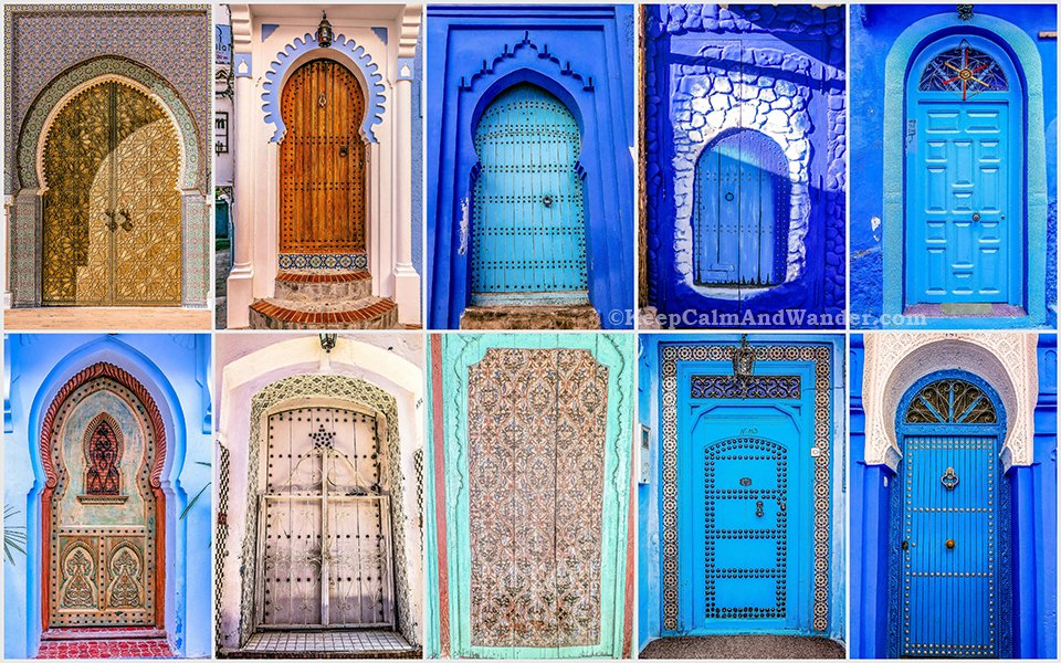 The Beautiful Doors in Morocco.