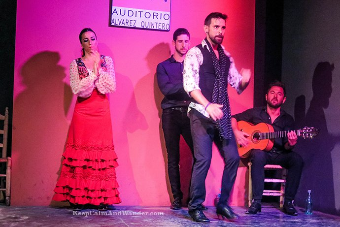 These dancers didn't disappoint the audience. Flamenco Sevilla Spain