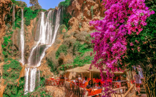Ouzoud Wateralls is a three-hour drive from Marrakech, Morocco.