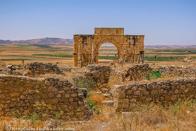 The Roman Ruins of Volubilis in Morocco.