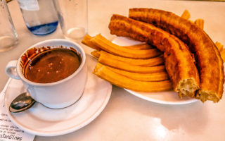 Chocolateria San Gines - Where Churros Taste Good (Madrid, Spain).