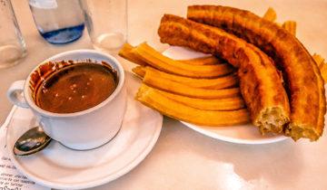 Chocolateria San Gines - Where Churros Taste Good (Madrid, Spain).