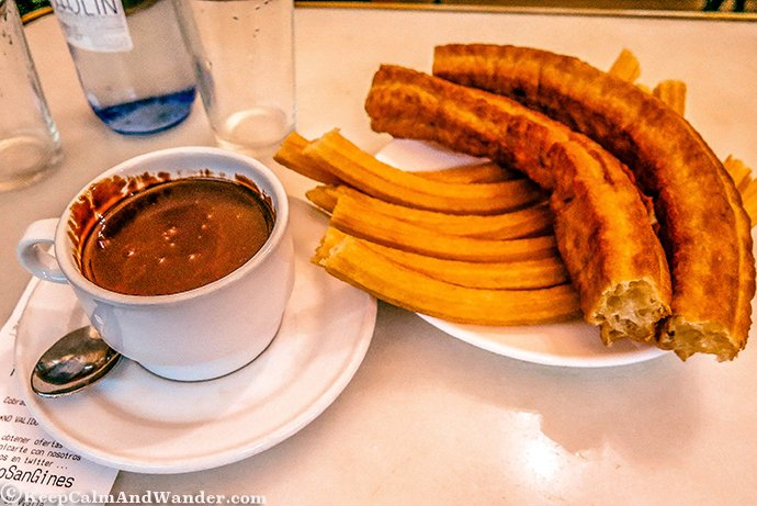 Chocolateria de San Gines - Where Churros Taste Good (Madrid, Spain).