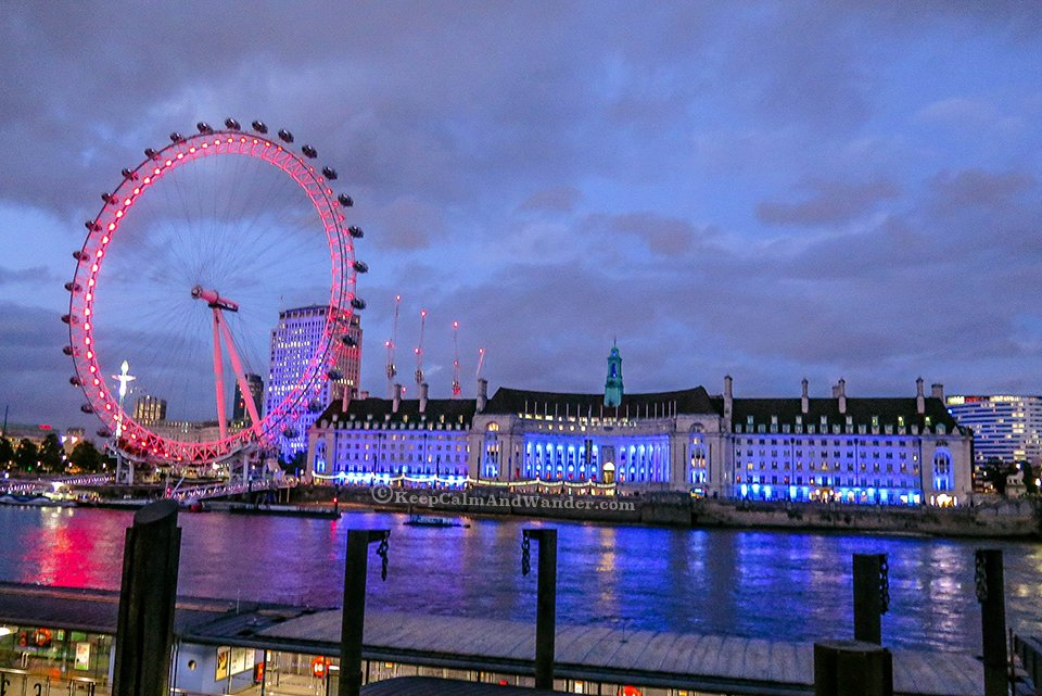 London Eye at Night is on Fire.