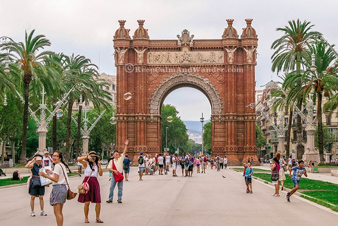 Arc de Triomf in Barcelona, Spain.
