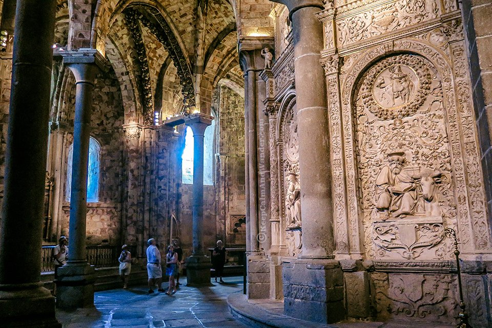 Inside Avila Cathedral De Is The First Gothic In Spain