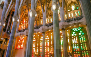 Antonio Gaudi designed the Church which started construction in 1882!