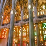 There's a Rainbow Tunnel Inside the Sagrada Familia