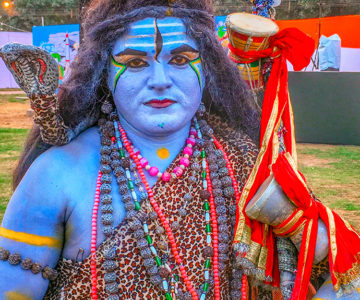 I Met Lord Shiva and He's So Blue