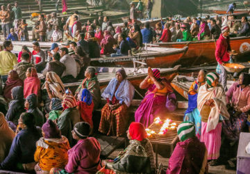 Ganga Aarti at Dashashwamedh Ghat - A Hindu Ritual by the Ganges River