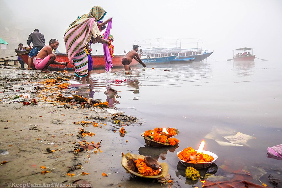 What Morning Looks Like at Ganges River in Varanasi (India).