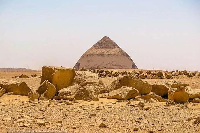 Bent Pyramid in Cairo (Dahshur, Egypt).