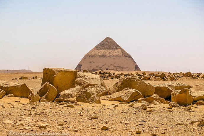 Bent Pyramid in Cairo (Dahshur, Egypt).