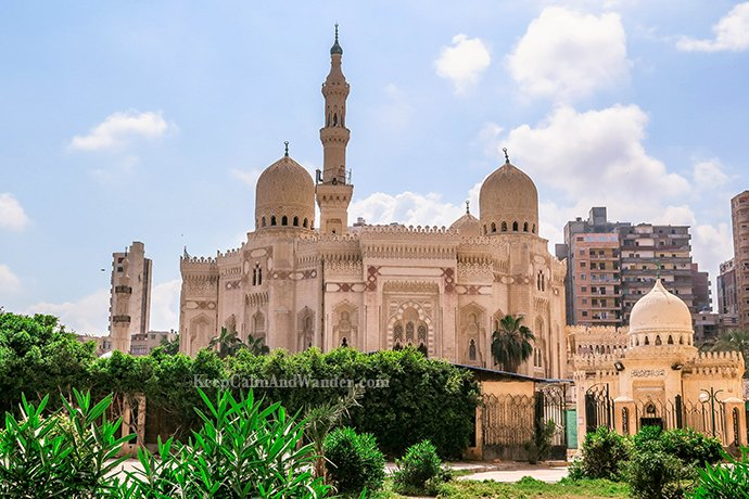 The Grand Al Mursi Mosque in Alexandria, Egypt.