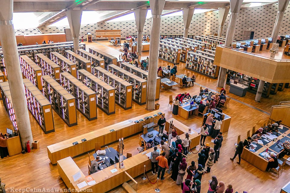 The Modern Library of Alexandria (Egypt).