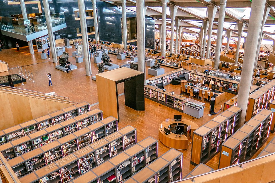 The Modern Bibliotheque Alexandrina (Egypt).