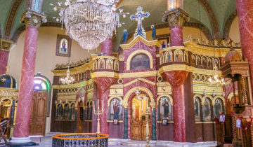 Inside the Church of St George (Coptic Cairo - Egypt).