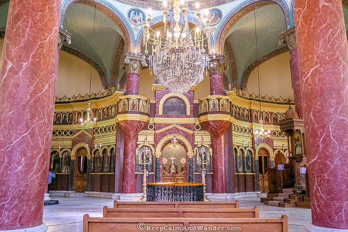 Inside the Church of St, George (Coptic Cairo - Egypt).