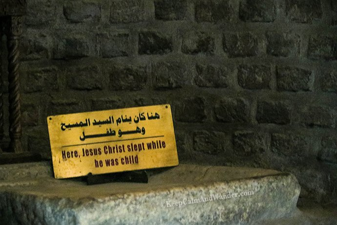 Jesus was a Refugee in Egypt and This is the Cave Where He Stayed (Cairo, Egypt).
