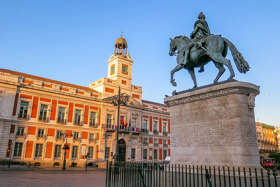 Morning at Puerta del Sol - The Center of Madrid (Spain).