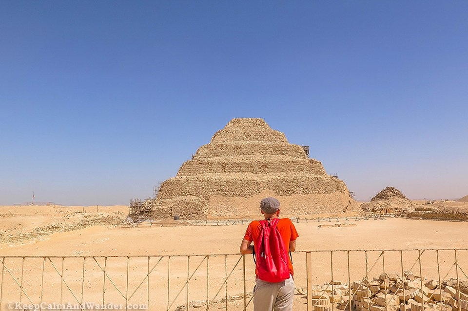 Saqqara Pyramids in the City of the Dead (Cairo, Egypt).