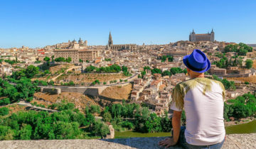 The Breathtaking Views of Toledo from Mirador del Valle (Spain).