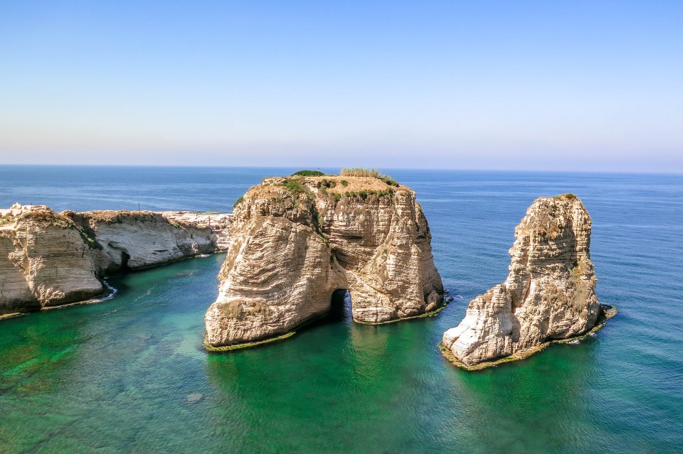 Beirut Pigeon Rocks - Guardian of the Sea? (Lebanon).