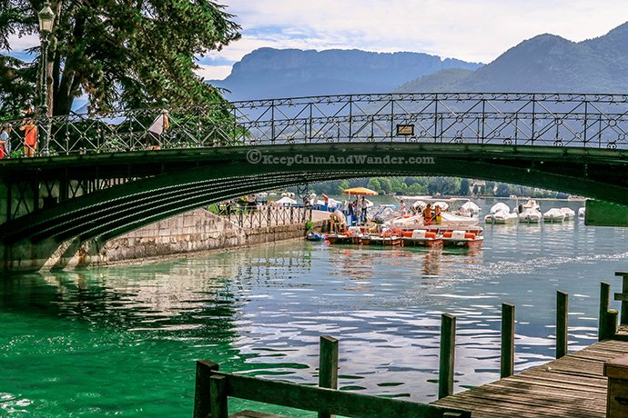 Pont des Amours - Be Careful Who You Kiss On This Lover's Bridge (Annecy, France).