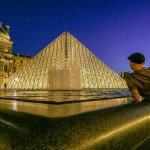 The Pyramids at Louvre Museum are Photogenic at Night