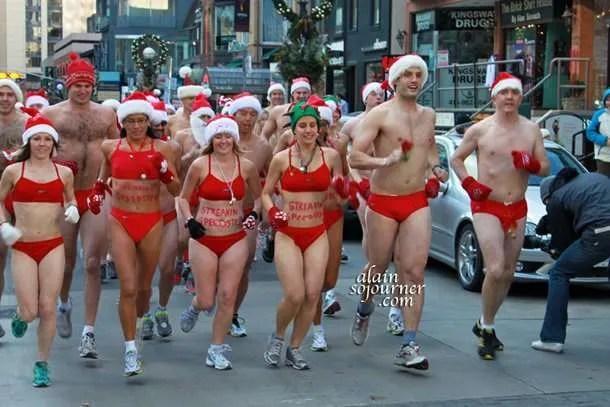 Toronto Naked Santa Speedo Run 2011