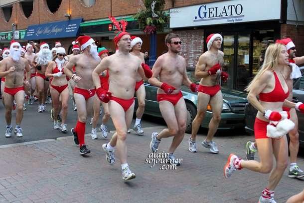Toronto's version of Naked Santa Speedo Run.
