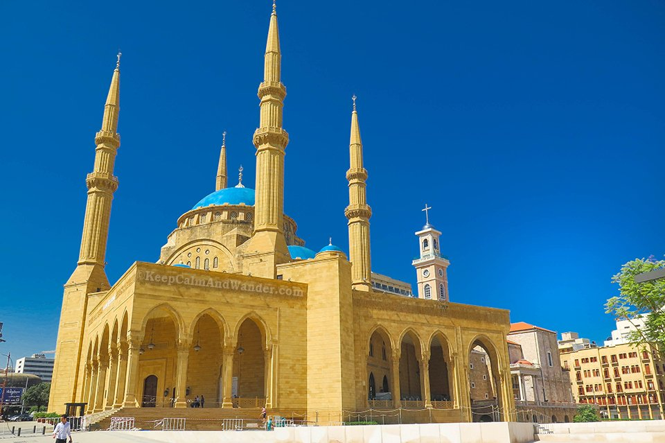 Must-see: Inside Al Amin Mosque in Beirut (Lebanon).