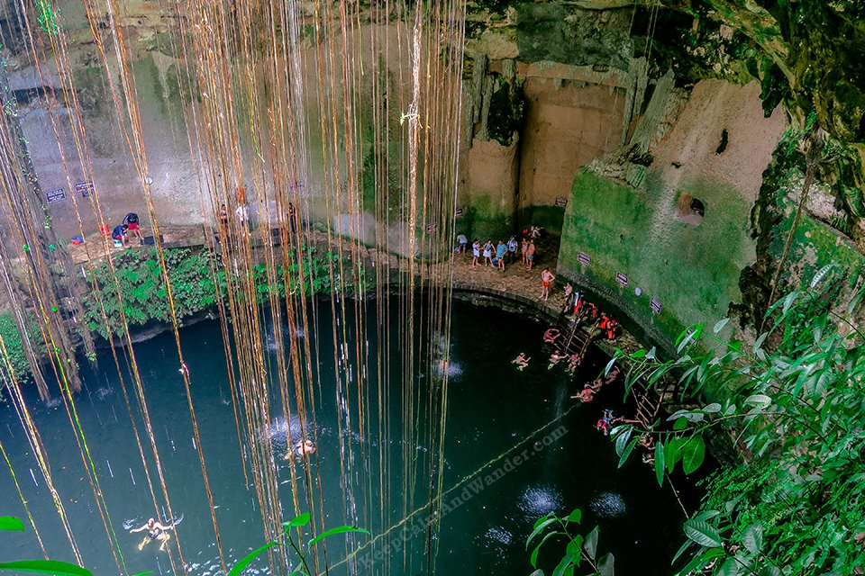 The Wonderful Cenote Ik Kil in Mexico.