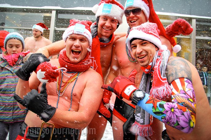 Toronto Naked Santa Run 2013
