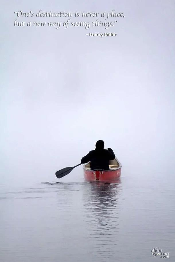 Algonquin Park - The Canoer Travel Quotes Henry Miller