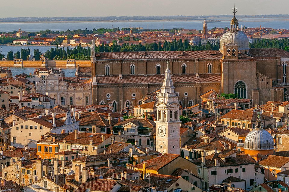 View of Venice from the Top of San Marco Campanile (Italy).