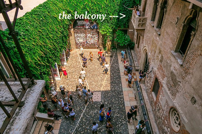 My Romeo Didn't Show Up at Juliet's Balcony in Verona (Italy).