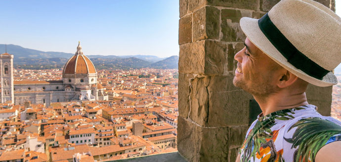 City Skyline: The Spectacular View of Florence From Tower de Arnolfo (Italy).