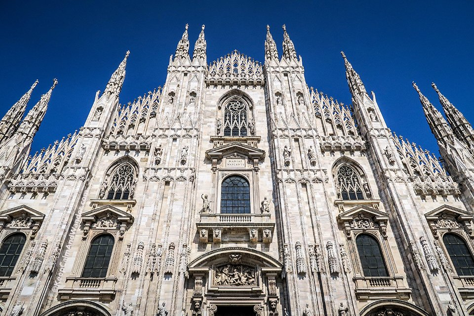 Duomo di Milano is the Most Elaborate Gothic Cathedral I've Seen (Milan Italy).