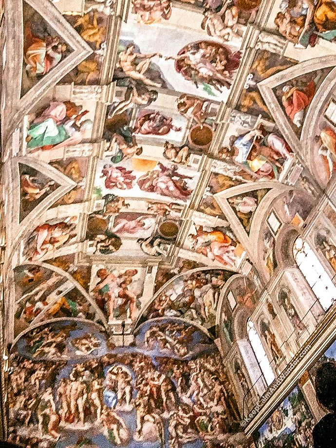 Inside Sistine Chapel - The Frescoes of Michelangelo (Vatican, Rome, Italy).