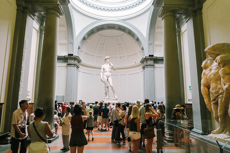 Michelangelo's Gorgeous Statue of David (at Accademia Gallery Museum in Florence, Italy).